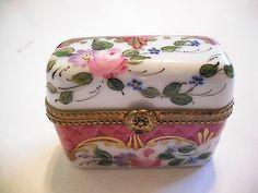 Peint Main Limoges Trinket-My Perfume Box