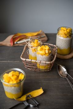 5-Ingredient Mango Coconut Tapioca Pudding { gf, v, dairy-free, paleo, refined sugar free } — saltnpepperhere