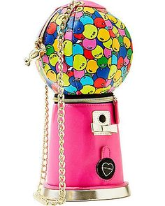 Betsey Johnson ~ Kitchi Bubble Gum Machine Crossbody Purse - denim handbags, large handbags, branded ladies handbags *sponsored https://www.pinterest.com/purses_handbags/ https://www.pinterest.com/explore/purse/ https://www.pinterest.com/purses_handbags/designer-handbags/ http://www.shoebuy.com/handbags/category_66
