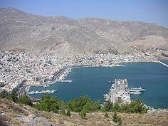 """* Ilha de Kalymnos *  Grécia.  Mar Egeu.  Arquipélago do """"Dodecaneso"""". Aqui, localidade de """"Pothia"""". É a Ilha mais rica do Arquipélago."""