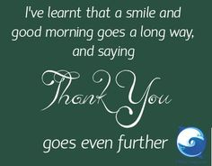 Good morning - and thank you for being YOU! :)