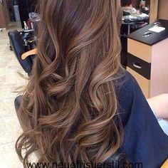 Große Braun Haarfarbe