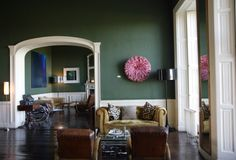 Bellinter House - County Meath, Ireland. No sleepy country estate, this is a contemporary marvel with playful-clever furnishings and 21st-century accoutrements.