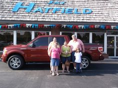 MARK AND TRACY's new 2014 ford f150! Congratulations and best wishes from Jay Hatfield Ford and ANTHONY WINNINGHAM.