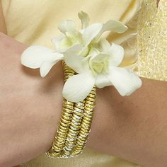 bracelet or wrist corsage from The Floral Underground