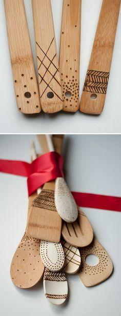 Woodburning spoons