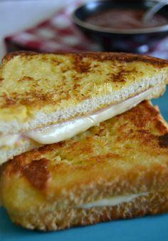 Sandwiches, Monte Cristo Sandwich, Toast Sandwich, Gnocchi, Crepes, Finger Foods, Banana Bread, Hamburger, Food Photography
