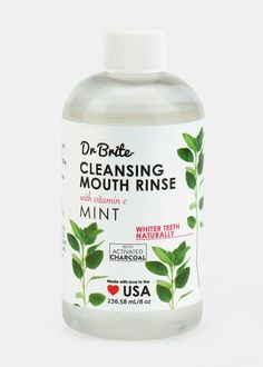 Activated Charcoal Mouthwashes - Dr. Brite's Activated Charcoal + Mint Mouth Rinse is 100% Organic (GALLERY)