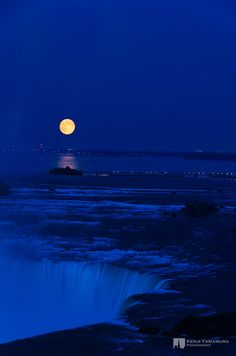 Full Moon at Niagara Falls. (8/27/2013) Nature: Moonlight (This is soothingly beautiful to me.) (CTS)