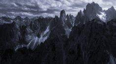 Spikes. Dolomites, Italy. #dolomiti #dolomites #landscape #landscapephotography #mountains #snow #ice #italy #fineart #fineartphotography #marcoromani #italia #marcoromaniphotography #mountainhuts #outdoorphotography #travel #Nikon #Feisol #Nikkor #monocrome