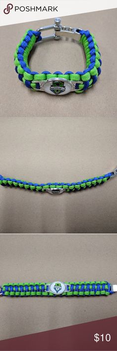 """MLS Seattle Sounders FC Paracord Bracelet Brand new Adjustable from 8"""" to 8.75"""" Other"""