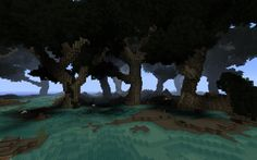 Minecraft Swamp Landscape; The Minecraft Gallery. Looks like evil forest!