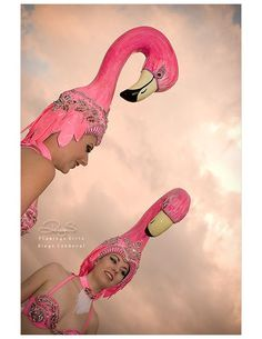 Flamingo headpiece: my next Halloween costume! Flamingo Art, Pink Flamingos, Flamingo Gifts, Pretty Birds, Pretty In Pink, Pink Bird, Halloween Costumes, Purim Costumes, Costume Ideas