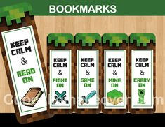 A great set of printable bookmarks motivate your kids to spend time reading! WHAT YOU GET This a digital listing for 1 PDF files with 5 bookmarks: Keep Calm & Read On Keep Calm & Fight On Keep Calm & Game On Keep Calm & Mine On Keep Calm & Carry On INSTANT DOWNLOAD Immediately after purchase an email […]
