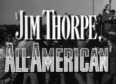 Jim Thorpe was truly an All-American athlete, who was outstanding in many sports. Tragically, his goal became his own celebrity which led to to the loss of everything dear and important to him. Fortunately, he found his way back to his initial dream that was far more fulfilling than celebrity. This is a fascinating movie with Burt Lancaster performing well the story of Jim Thorpe. This classic movie remains timely and universal. Jim Thorpe, American Athletes, Inspirational Movies, American Indians, True Stories, Movie Tv, Heroines, Lancaster, Golden Age