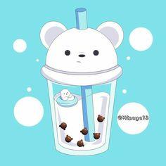 Tea Wallpaper, Cute Panda Wallpaper, Cartoon Wallpaper Iphone, Cute Disney Wallpaper, Kawaii Wallpaper, We Bare Bears Wallpapers, Panda Wallpapers, Cute Cartoon Wallpapers, Cute Animal Drawings Kawaii