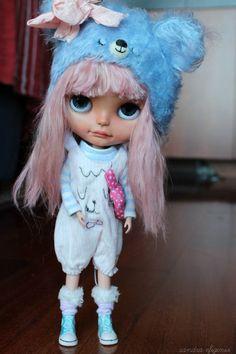 Sakura Cookie OOAK Blythe Custom by me by SandraEfigenio on Etsy