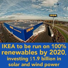 Bold statements by companies big and small will lead the world towards a brighter planet! Kuds IKEA!