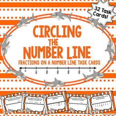 Fractions on a Number Line QR Task Cards   Pinterest