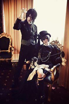 "Ciel Phantomhive and Sebastian Michaelis from Toboso Yana's ""Black Butler""/""Kuro Shitsuji"""