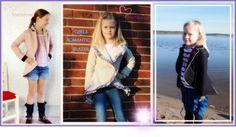 Girls Romantic Blazer 98-164 von Schnittherzchen auf DaWanda.com Couture, Kimono Top, Vest, Romantic, Blazers, Jackets, Tops, Girls, Women