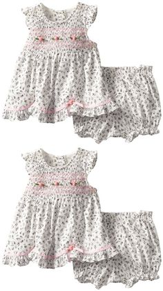 Rare editions baby girls infant popover set with panty ivory black