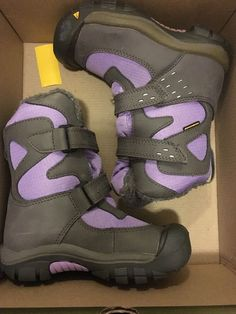 keen girls kalamazoo high boot wp size US 11 gargoyle/bougainvillea Snow boots 887194093281 | eBay