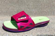 Cheap Nike Air LeBron 2 Slide Elite Fireberry Electric Green