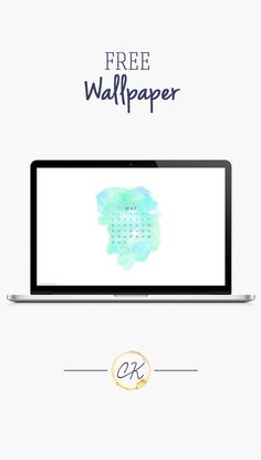 Blue purple turquoise green watercolor may 2016 calendar wallpaper free download for iPhone android or desktop background on the blog!