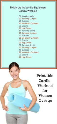 30 Minute Indoor No Equipment Cardio Workout #Equipment #Cardio #Workout
