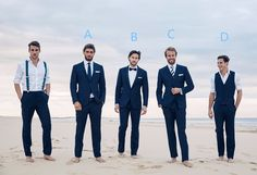 Navy Blue Groomsman Tuxedos For Beach Wedding 2 Pieces Men Slim Fit Prom Party Dinner Suits Best Man Suit Groom Wear Custom Made(China (Mainland))