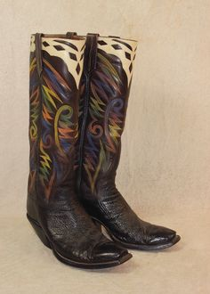 Chris Bennett Tall Top Boots - New Frontier Western Auctions Best Cowboy Boots, Cowboy Boots Women, Western Cowboy, Western Boots, Chris Bennett, Custom Boots, Cool Boots, Western Outfits, School Fashion