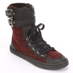 Unleashed by Rocket Dog Plaid High-Top Shoes - Women