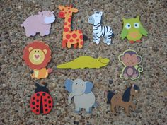Childrens Wooden Animal Magnets by Luckycharmsthree on Etsy