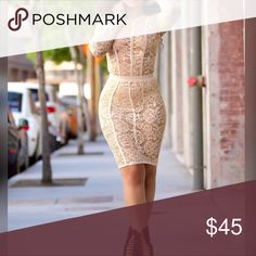 Nude Lace Two Piece! NWT Nude Lace Two Piece! Size Medium Skirts Midi