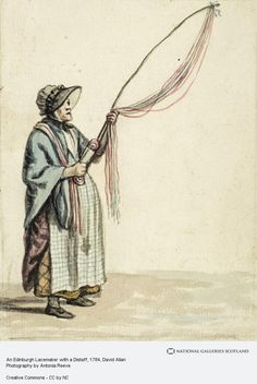 An Edinburgh Lacemaker with a Distaff Scottish Clothing, Gallery Of Modern Art, Max Ernst, National Portrait Gallery, Historical Pictures, Historical Costume, Working Woman, Women In History, Caricature