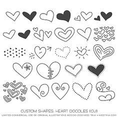 Heart Doodle Shapes ·CU·