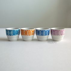 Kauno on heidän nimensä. 4 Arabia Finland Kauno Egg Cups by alamodern on Etsy, $45.00