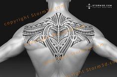 Samoan upperback tattoo design patterns #samoantattoosback