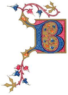 Illuminated Letters :: Letter B