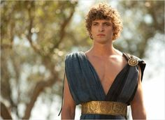 Telemaco - Niels Schneider Greek Male Models, Greek Model, Niels Schneider, Achilles And Patroclus, French Icons, Pagan Gods, Empire Romain, Character Aesthetic, Character Design