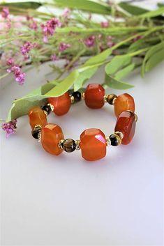Achátový náramok s tigrím okom / Sima-polodrahokamy - SAShE. Beaded Bracelets, Jewelry, Fashion, Carnelian, Moda, Jewlery, Jewerly, Fashion Styles, Pearl Bracelets