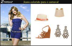 Olá meninas! Tudo bem com vocês?    O carnaval está chegando, falta pouco!   Vocês já estão preparando o look para usar durante os dias de folia? Que tal dar uma olhadinha na nossa sugestão com jeans colorido?