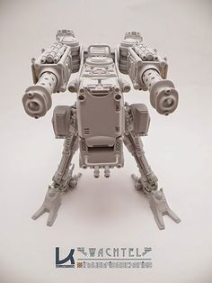 """WACHTEL resin kit by Kallamity and produced by Industria """"Wachtel"""" provides continous fire for closesupport and destructive fire for tactical standoff engagement. Robots Drawing, Futuristic Robot, Gun Turret, Garage Kits, Robot Design, Sci Fi Characters, Game Art, Concept Art, Character Design"""