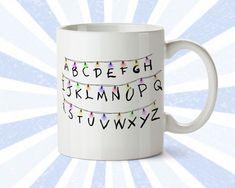 Stranger Things Mug - Netflix Series - The Upsidedown - Alphabet - SIFI - Cool coffee mug - Stranger Things merch - Ceramic - 11 oz - 15 oz