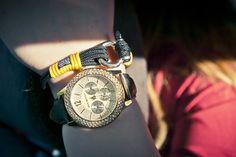 Fashion is the armor to survive the reality of everyday life. Nautical Bracelet, Fashion Bracelets, Fashion Addict, Passion For Fashion, Luxury Fashion, Nautical Fashion, Watches, Handmade Bracelets, Anchor