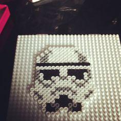 Star Wars Stormtrooper hama perler beads by ccilya