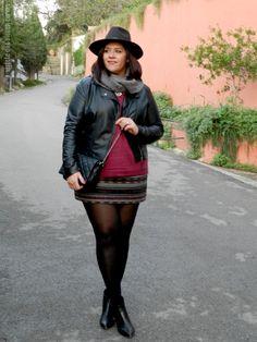 VÍSTETE QUE VIENEN CURVAS: Look Jacquard skirt