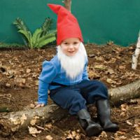 I think E would be a super cute lawn gnome! Homemade Gnome Halloween Costume