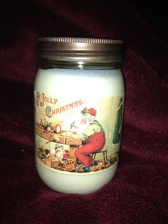 Holiday candle, soy candle